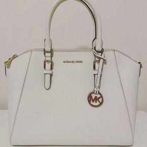 Michael kors ciara large top zip satchel